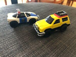 Power rangers Turbo Vintage Bandai mini pull back plastic cars  1997 -  2 cars