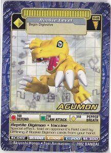 BANDAI-TOEI-2002-DIGIMON-DIGI-BATTLE-CCG-CARD-STREET-STARTER-3-ST-126-AGUMON