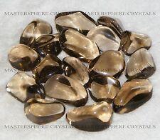 15 x Smokey Quartz Tumblestones 14mm - 16mm A Grade Crystal Wholesale Bulk