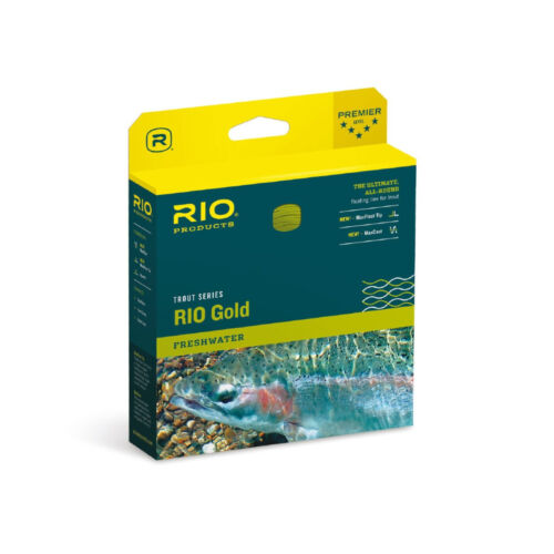 Fly Line RIO GOLD DualTone WF4 Floating Fliegenschnur FREE MAXIMA Tippet!!