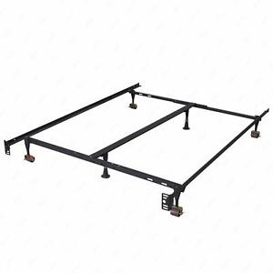 Metal Bed Frame Adjustable Queen Full Twin Size W Center