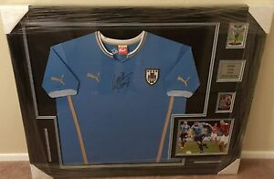292be0d509663 Rare Luis Suarez Custom Framed Signed Uruguay Jersey PSA DNA COA   eBay