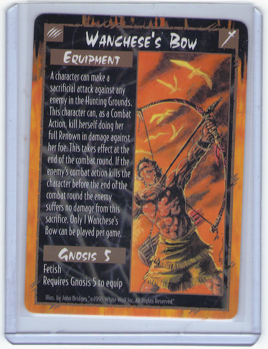 Rage Wanchese's Bow PROMO White Wolf Ultra Rare M NM CCG TCG