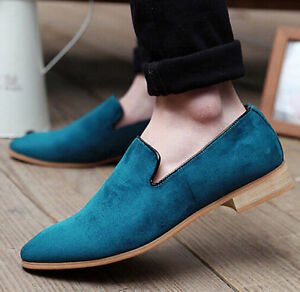A-Oxfords-Men-Pointy-Toe-Driving-Flat-Moccasin-Casual-Loafer-Slip-On-Dress-Shoes