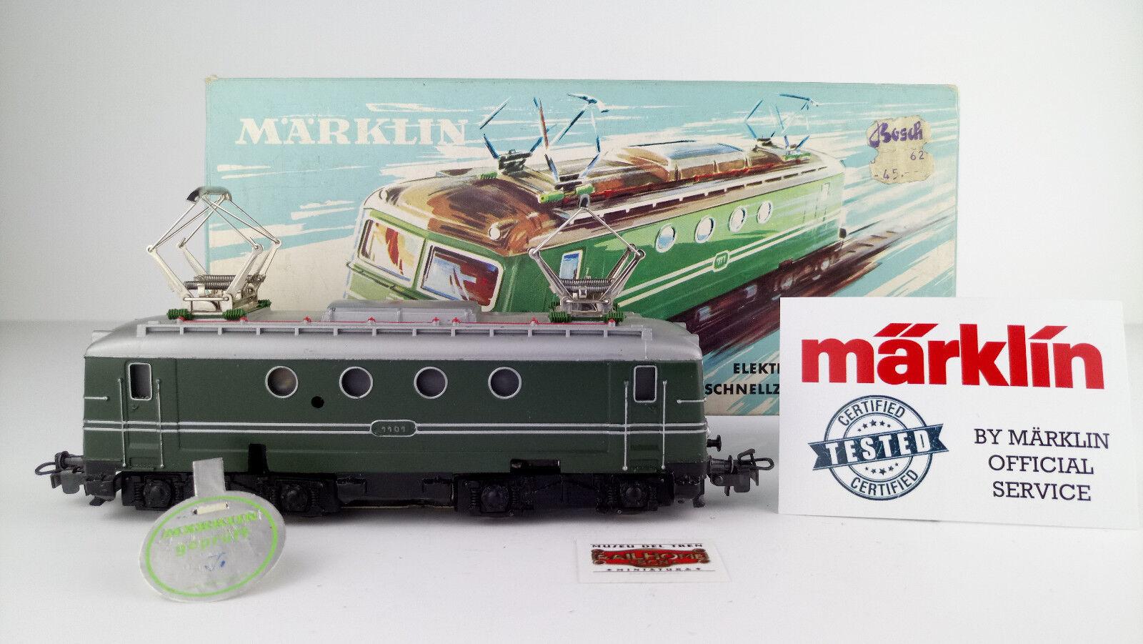 Marklin ho 3012-E-lok Green 1101-tested-very good condition-ovp-prüfsiegel