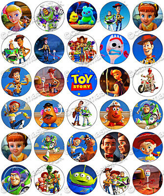 30x Toy Story Cupcake Toppers Edible Wafer Paper Fairy Cake Toppers