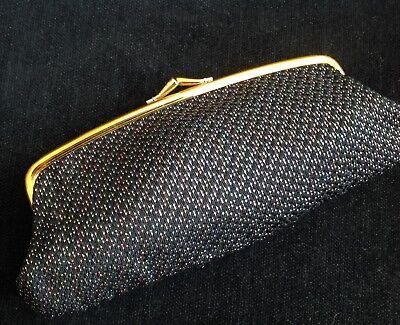 Fiducioso Vintage Black & Gold Frame Arcobaleno Sparkle Glitter Pochette Sera Borsetta-mostra Il Titolo Originale