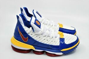 detailed look d6e60 95e4a Image is loading Nike-LEBRON-XVI-SB-Superman-White-Varsity-Size-
