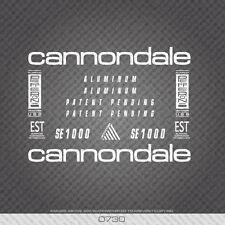 0730 Cannondale SE1000 Bicicletta Adesivi-Decalcomanie-Trasferimento-Bianco
