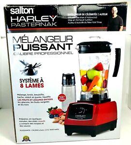 NEW-Salton-BL1486RBT-Harley-Pasternak-Professional-Power-Blender-Red-Open-Box