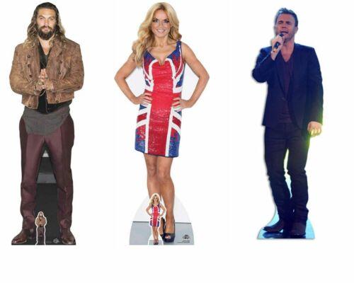 Jason Momoa Geri Halliwell Gary Barlow  Lifesize Cardboard Celebrity Cutouts