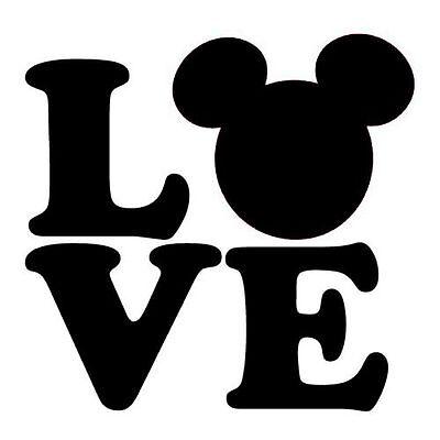 Disney Bumper Laptop Decal Sticker Mickey Mouse Love Mickey Ears Love