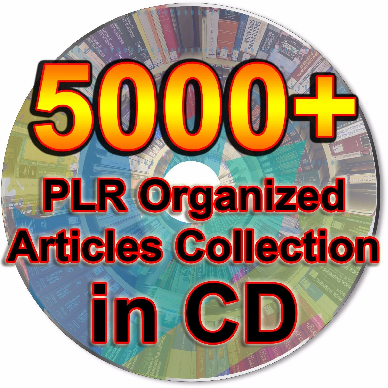 5000+ PLR Organized Articles Collection Pack RoyaltyFree Blog Website Content CD
