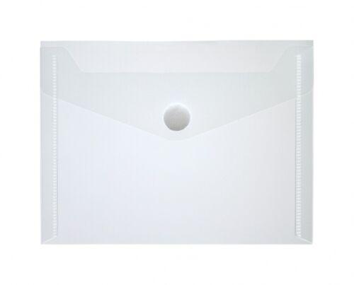 100x Dokumententaschen Umschläge Klettverschluss A6 quer farblos transparent