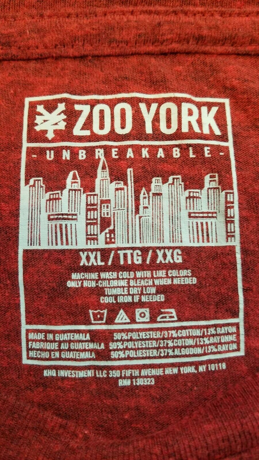 Unbreakable City Zoo York New York Shirt White XXL New in Package w// tags
