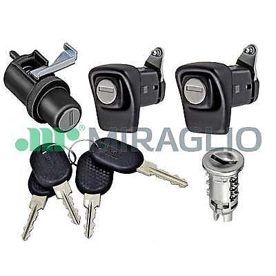 CILINDRETTO 4 CHIAVI FIAT PANDA 85//104 COFANO KIT SERRATURE PORTE DX SX
