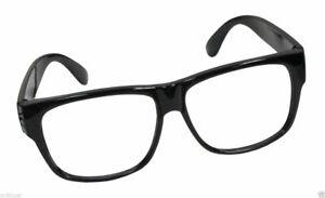 Black Frame Nerd Retro Hipster Frames Glasses No Lens Lense Costume Accessory