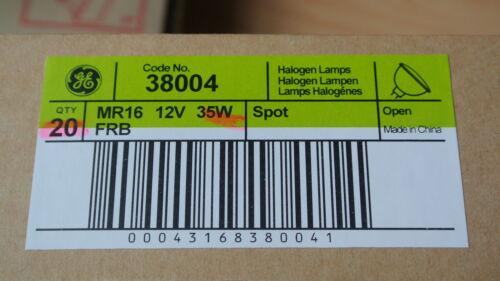PACK 10 GE Start 38004 FRB-CG-12 12D 35w MR16 GU5.3 12v Open Front Halogen bulbs