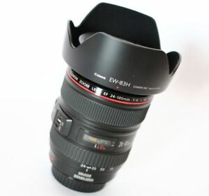 Canon EF 24-105mm f/4 L IS USM Lens + EW83H Hood (White Box) Express Shipping 13803050844