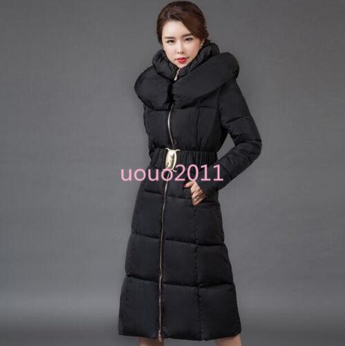 Women/'s Winter Slim Puffer Parka Duck Down Jacket Hooded Warm Stylish Long Coat
