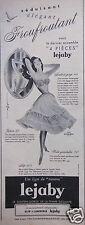 PUBLICITÉ 1957 une ligne du tonnerre LEJABY soutien-gorge élégant - ADVERTISING