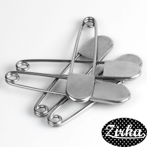 """10 Pack Super Heavy Duty Jumbo 5/"""" Stainless Steel Safety Pins crafting projects"""