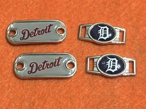 a6c947bd7b5e7 Details about 2 ~ Detroit Tigers MLB Paracord Charms Oval or Mini Dog Tag  shoelace charms