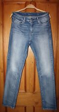 "Levis Strauss & Co 29 Demi Curve Mid Rise Slim Blue Stretchy Jeans W 29"" L 32"""