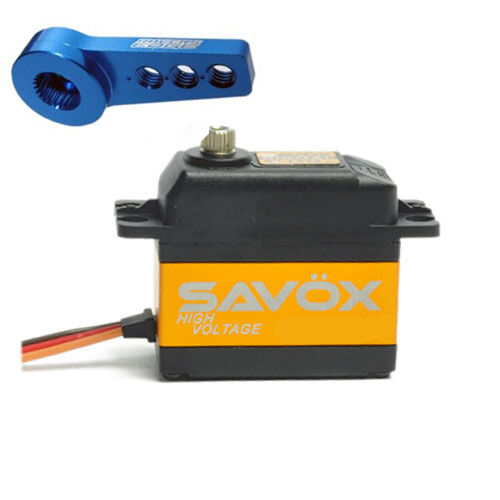 Savox SC-1252MG Low Profile Super Speed Digitale Servo W/Gratis Corno in
