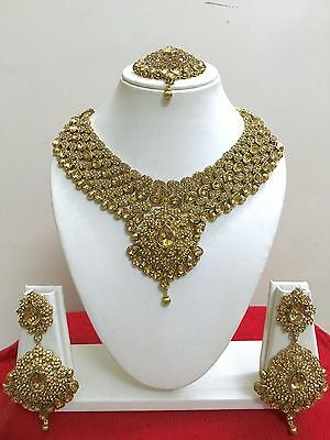 Indian Bollywood Style Designer Gold Plated Fashion Bridal Jewelry