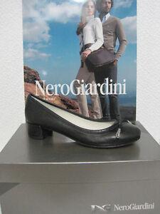 Ballerina scarpa pelle nero donna tacco 106000 NERO GIARDINI 36 38 39 40 sconto