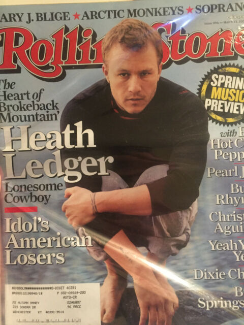 Rolling Stone - Issue 996 - March 23, 2006 - Heath Ledger