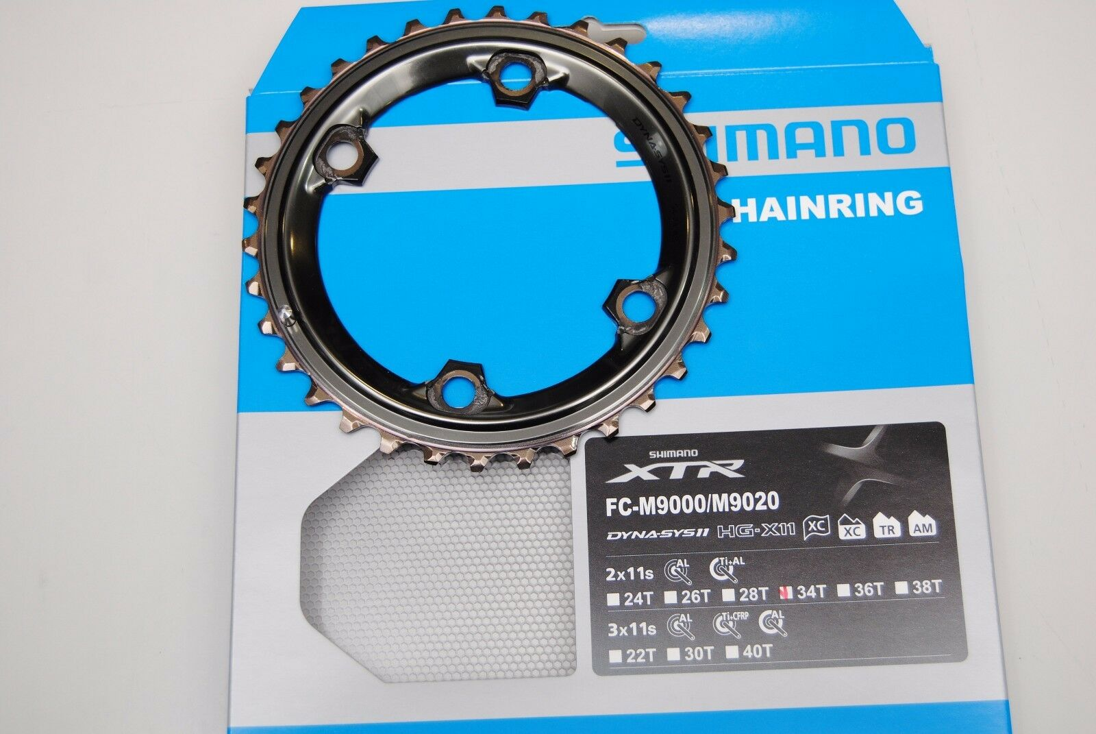 Cgoldna SHIMANO XRT 34T AS FC-9000 2x11Speed CHAINRING SHIMANO XTR 34T AS FC-9000