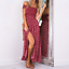 Women-039-s-Summer-Casual-Off-Shoulder-Floral-Long-Slits-Maxi-Dress-Beach-Sundress thumbnail 7