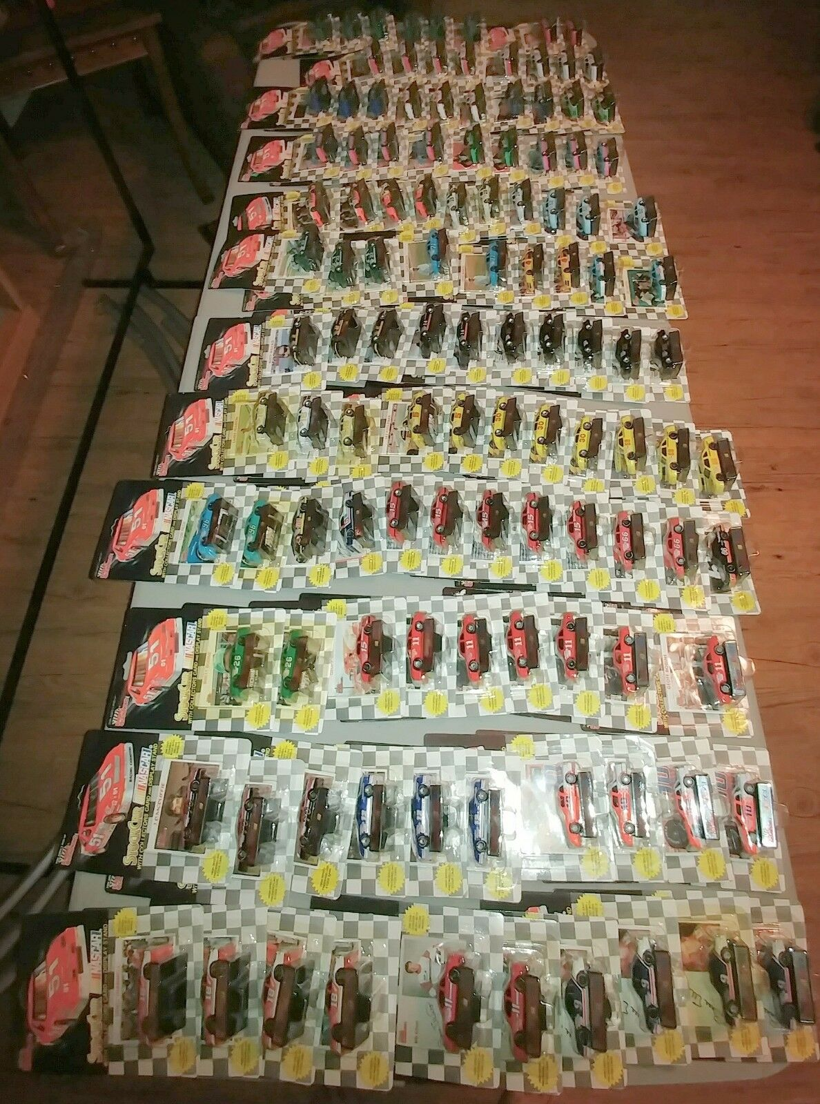 116 Racing Champion Nascar Diecast 1 64 scale cars with stand  card, mostly 1991