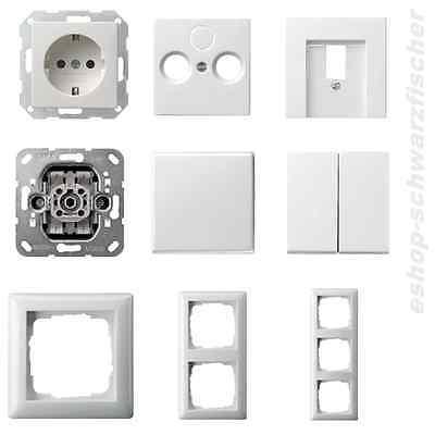 Gira Schalter/Steckdose/etc. System 55 reinweiß glänzend -Auswahl nach Wunsch