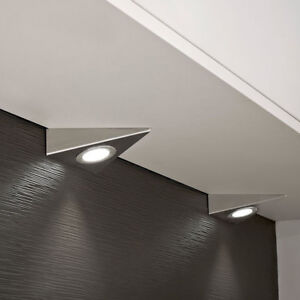 Details about 1/2pcs LED Kitchen Cabinet Cupboard Triangle Light Kit Cool  Warm White Under