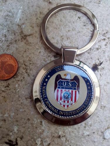 GROS PORTE CLEFS FANTAISIE CHROME NCIS USA CLES CLEF