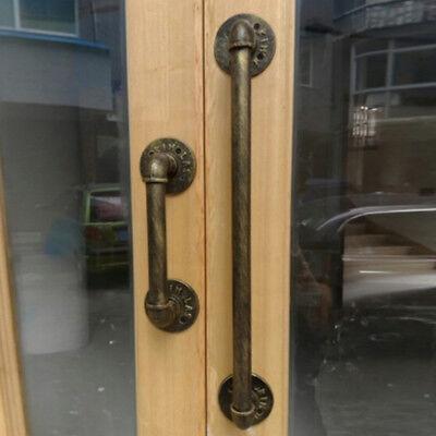 Delicieux Vintage Door Pull Handle Industrial Pipe Antique Cast Iron Door Hardware |  EBay