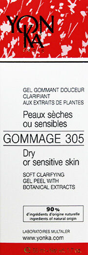 Yonka Gommage 305 Soft Peel Dry/Sensitive Skin 1.7oz(50ml) Brand New