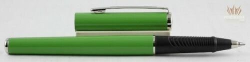 SHEAFFER AGIO 9081 GREEN WITH CHROME TRIM ROLLER BALL PEN SUPERB GORGEOUS DESIGN