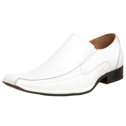 b195be1b236 Stacy Adams Templin Men US 9 White Loafer Pre Owned 1468