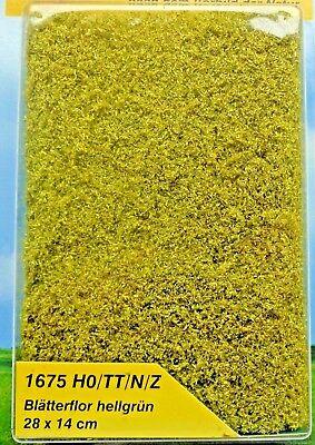 (224,23 €/m²) Heki 1675 Fogli Flor Verde Chiaro, Foliage, 28 X 14 Cm, Nuovo-mostra Il Titolo Originale