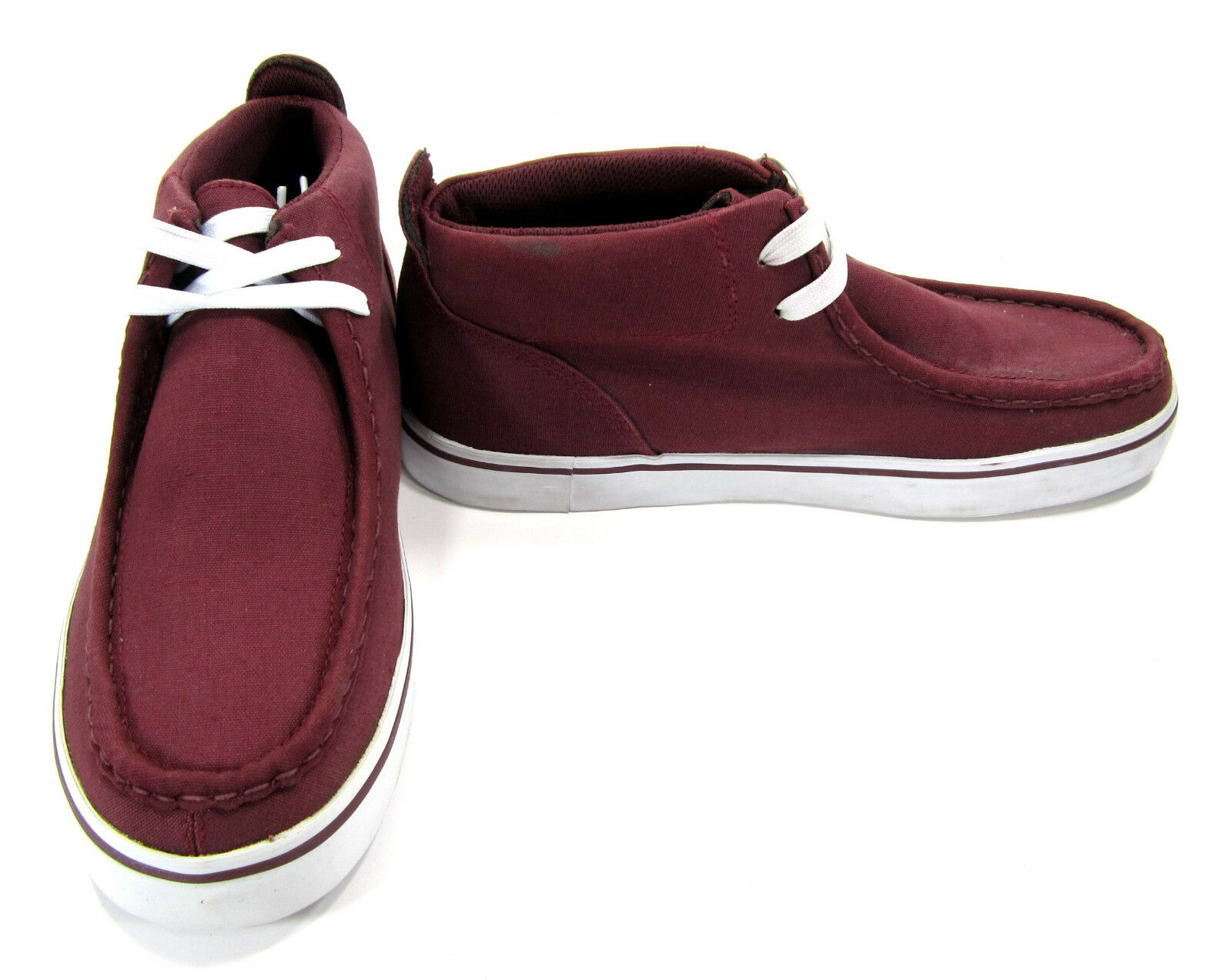 Lugz shoes Strider Lo Canvas Maroon Red Boots Size 9