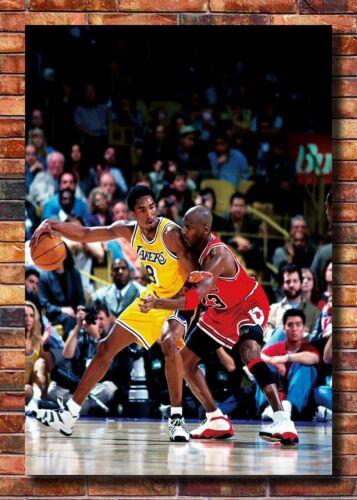 T417 New Kobe Bryant VS Michael Jordan Basketball Star 24x36 27x40 Art Poster