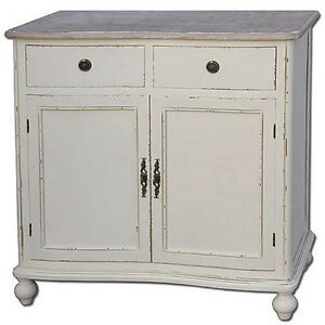 FRENCH-COUNTRY-SIDEBOARD-CABINET-CUPBOARD-SHABBY-CHIC-VINTAGE-ANTIQUE-CREAM-NEW