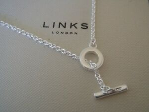 Image Is Loading Genuine Links Of London 925 Silver T Bar