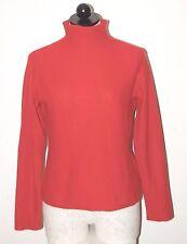 ISDA & CO 100% Cashmere Terra-cotta Turtleneck Sweater S