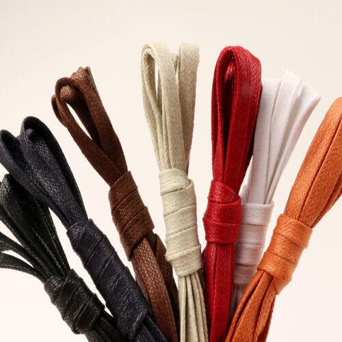 Flat Waxed Shoelaces Oxford Flat Canvas Sneaker Shoe Laces Unisex Shoe Laces New