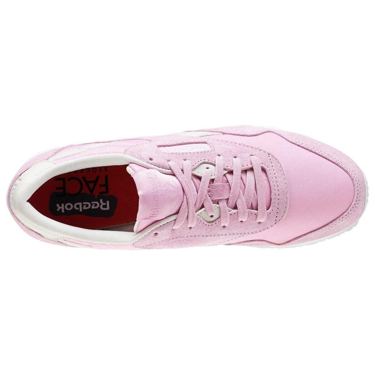 Reebok Klassisch Trainer Damen Trainer Schuhgröße 4 4 Schuhgröße pink weiß 303c15
